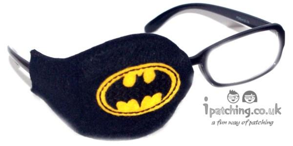 Batman_On_Black_Plastic_Frame_Orthoptic_Eye_Patch