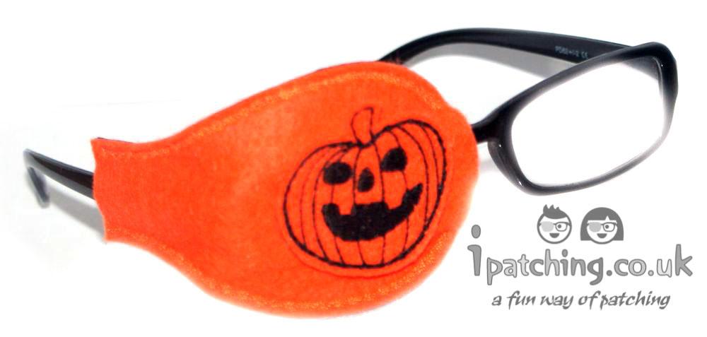 Halloween Pumpkin Eye Patch