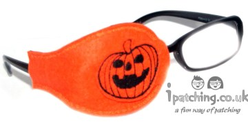 Halloween Pumpkin Eye Patch