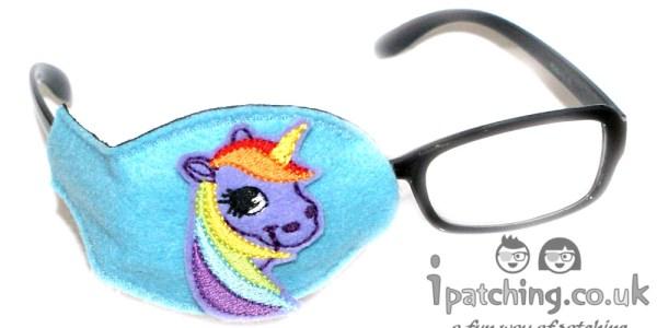Violet_Unicorn_On_Blue_Plastic_Frame_Orthoptic_Eye_Patch
