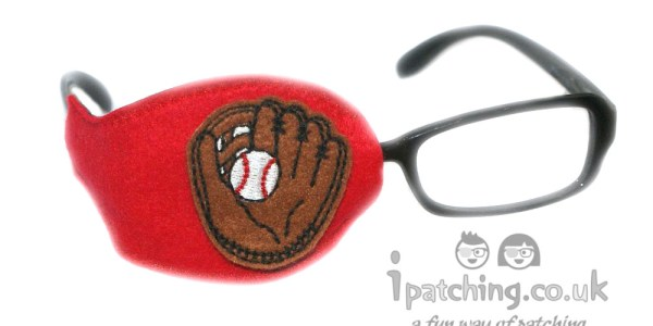 Kids-Orthoptic-Eye-Patch-Amblyopia-Lazy-Eye-Baseball-Red