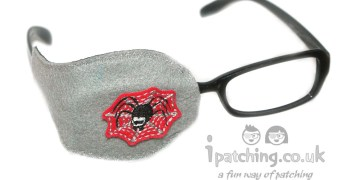 Scary Spider Orthoptic Eye Patch