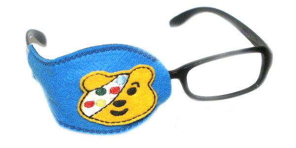 Pudsey teddy bear eye patch