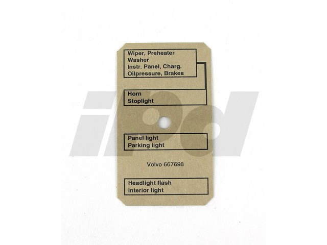 Volvo Fusebox Diagram - Amazon PV 124336 667698