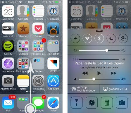 Iphone Wallpaper Changer App Pratique Ios 7 Tout Savoir Sur Le Centre De Contr 244 Le
