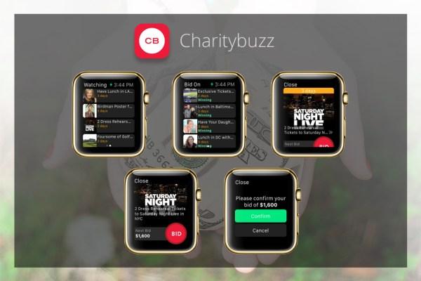Apps für die goldene iWatch - Charitybuzz