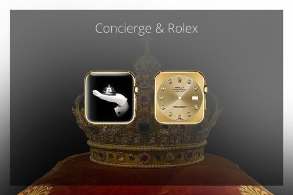 Apps für die goldene iWatch - Concierge & Rolex