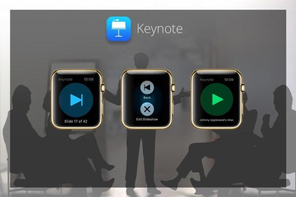 Apps für goldene iWatch - Keynote