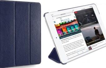 StilGut iPad Air 2 Hülle Couverture aus Leder in Navyblau