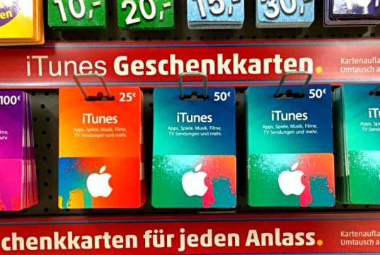 iTunes Guthabenkarten Rabatt
