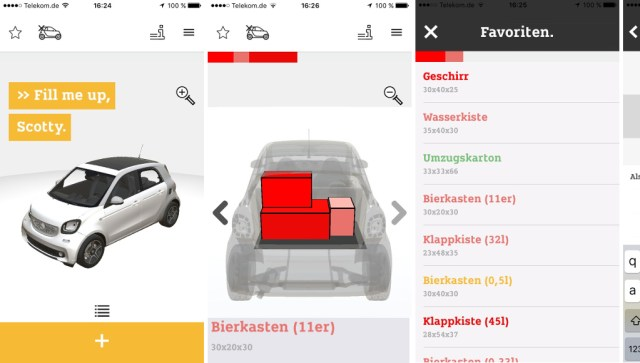 Pactris app für Smart Daimler