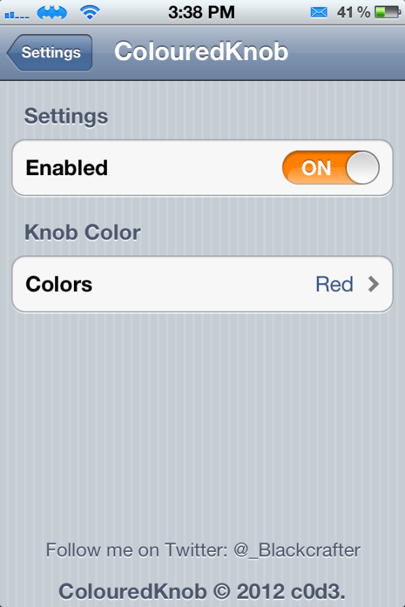 colourknob Cydia Tweaks February 2012