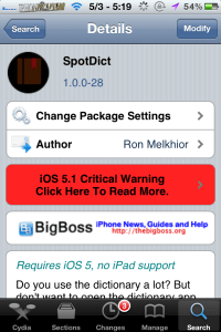 spotdict 200x300 Expand Your Vocabulary Indefinitely With SpotDict: SpotDict Cydia Tweak
