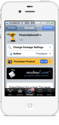 poweroptionspro1 198x420 PowerOptionsPro Cydia Tweak: Add Awesome Features To ShutDown Screen