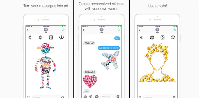 Turn Your Messages Into Creative Art With The New Text Mess App - cool text message art