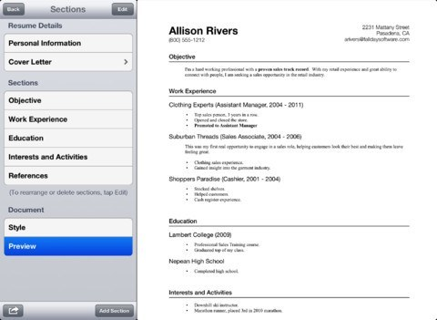 How To Prepare Your Resume on iPhone 4 Resume Apps - iPhoneNess - How To Prepare Resume