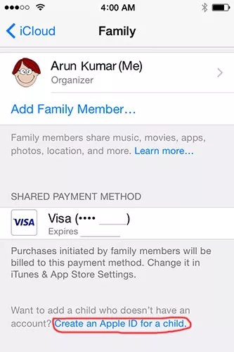 How to Create an Apple ID for Child Under 13