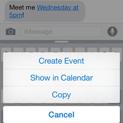 Create iOS Calendar Events From iPhone Messages iPhoneTricksorg - create a picture calender