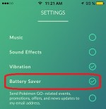 Pokemon Go Battery Saver Setting