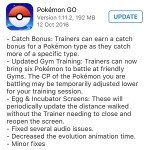 Pokemon GO Updates With Catch Bonus Gym Training Other Minor