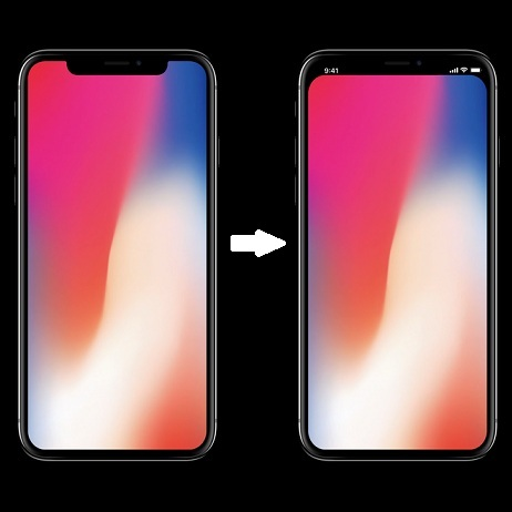 Ios 11 Wallpapers Iphone X Trick To Remove The Iphone X Notch From Home And Lock