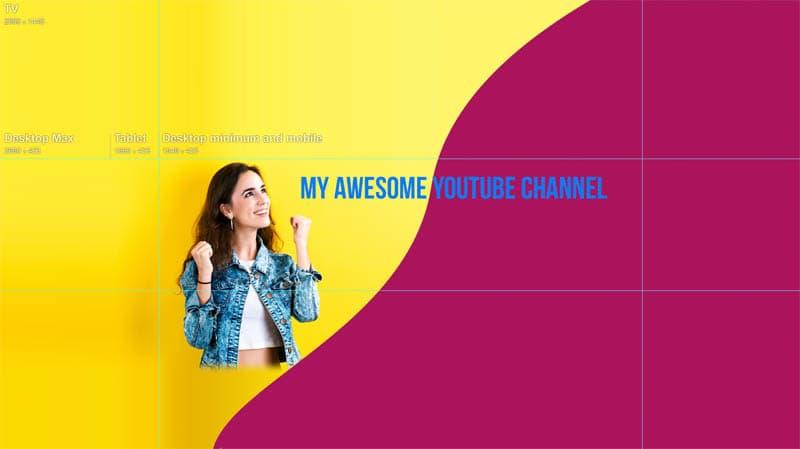 How to Make YouTube Channel art in Photoshop (new layout