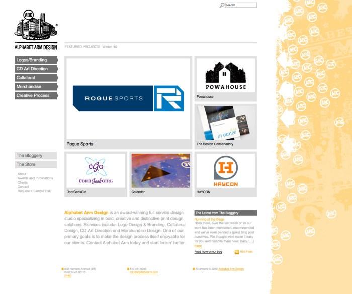 Alphabet Arm Design home page