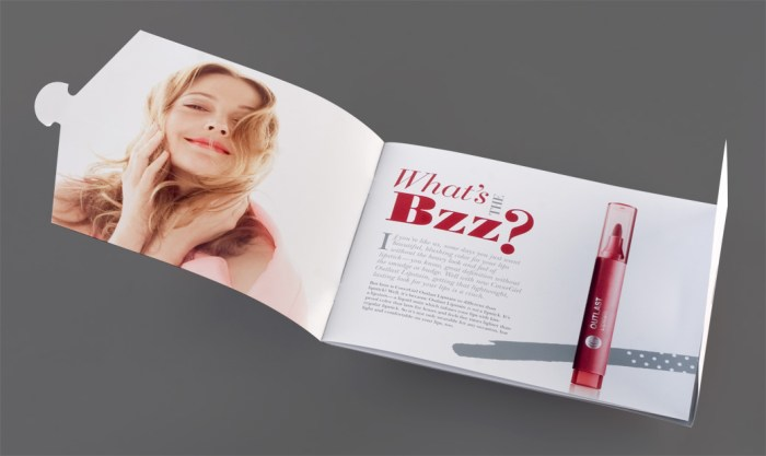 COVERGIRL campaign booklet intro spread