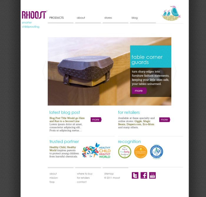 Rhoost website homepage