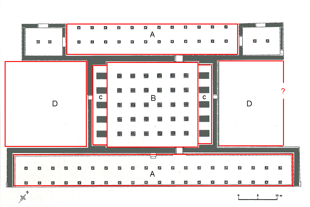 Achaemenids (Pasargadae) - Plan of The Audience Hall (70m X 30M - salon resume