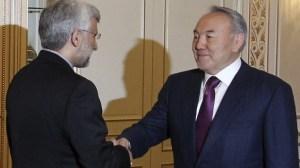 Jalili meets Nursultan Nazarbayev