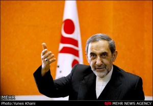 Ali Akbar Velayati talking in an interview with Iranian Mehr News Agency