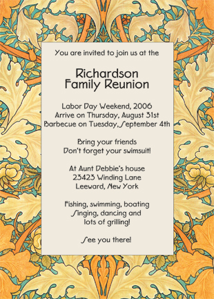 reunion invitation cards - Selol-ink