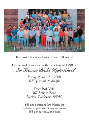 Class Reunion Invitations - class reunion invitation template