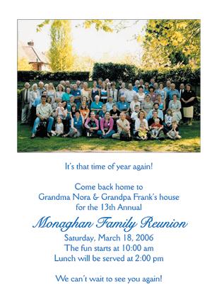 Family Reunion Invitation - Design Templates