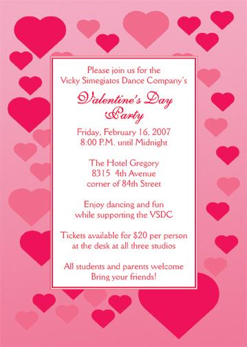 Valentine\u0027s Day Party Invitation
