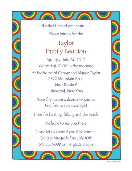 Family Reunion Invitations - birthday invitation letter sample