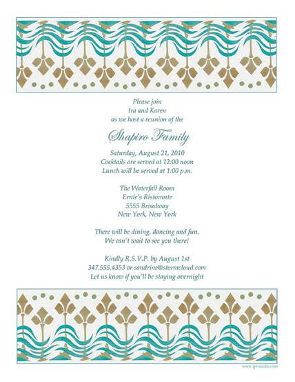 Family Reunion Template - FRT-02 - class reunion invitation template
