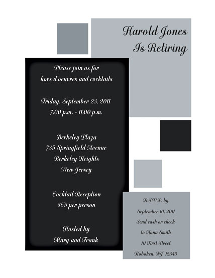Party Invitation - RPIT-13 - retirement party flyer template
