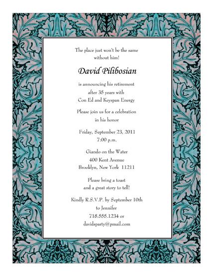 Retirement Party Invitations - retirement programs