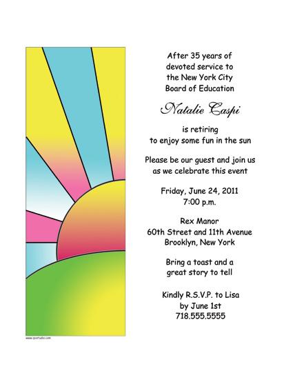 Party Invitation - RPIT-19 - retirement party flyer template