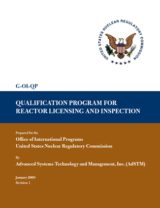 G-OI-QP Qualification Program for Reactor Licensing and Inspection - qualification table