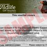 Discover Wildlife Gift Vouchers: last call for posting today