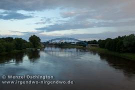 Blick auf die Elbe am Abend
