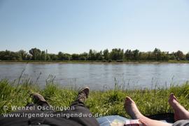 Relaxen am Fluss