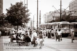 Straßenbahn - Nordabschnitt Karl-Marx-Straße (Breiter Weg) 1989