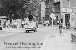 Kreuzung Braunschweiger- Rottersdorfer Straße |  Magdeburg 1989