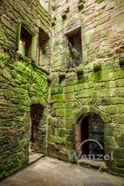Caerlaverock Castle - mittelalterliche Festung im Süden Schottlands