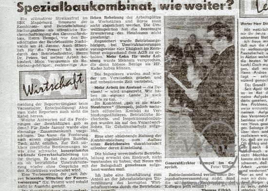 Spezialbaukombinat fordert Betriebsrat - DAZ 24. Januar 1990