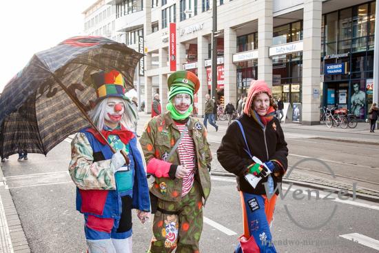 Meile der Demokratie - Clowns